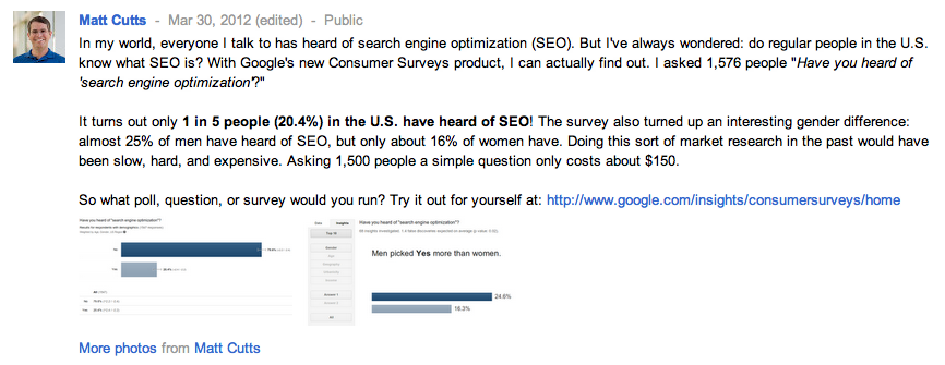 Matt cutt讨论问卷调查 谷歌又发力新产品Google Consumer Survey利好外贸一族