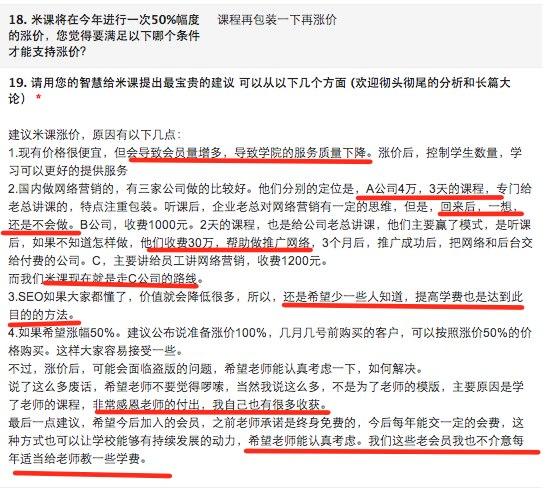 涨价 米课外贸培训学员第一次问卷调查总结汇报 (超长)